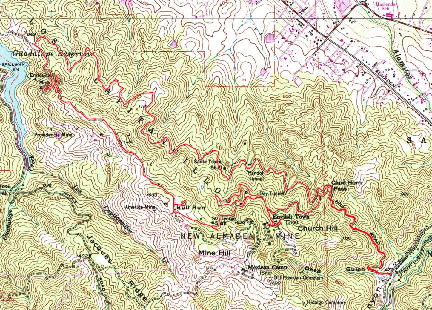 San Jose Calif Map%0A     ideas Quiksilver San Jose Map on christmashappynewyearsdownload   Almaden Quicksilver Park Bay Area Mountain Bike Rides