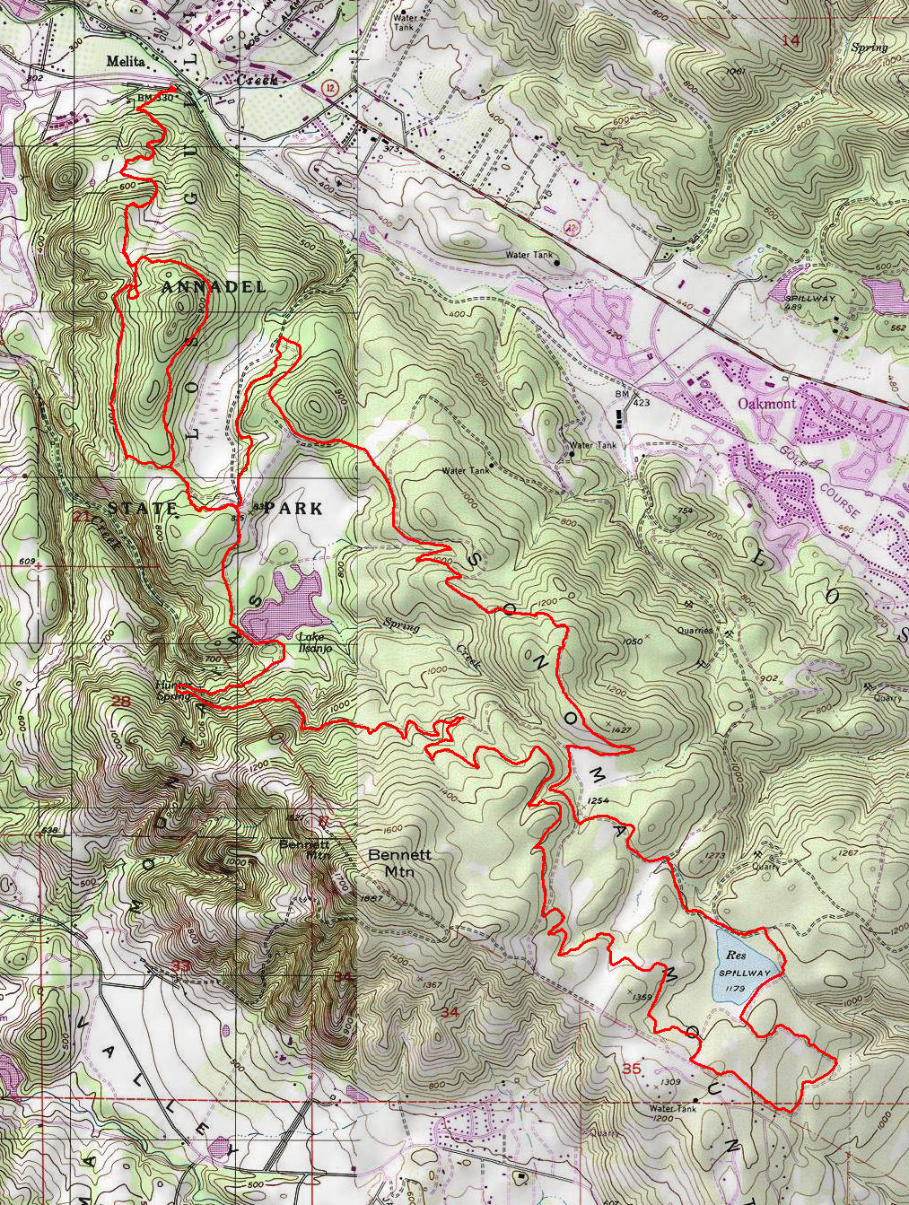 Annadel (Suggestion 1) - Bay Area Mountain Bike Rides