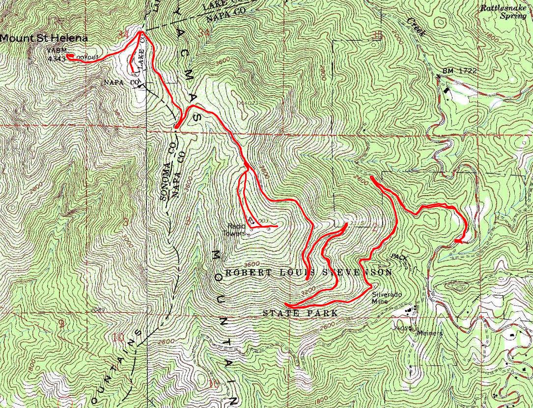 Mount St Helena Bay Area Mountain Bike Rides