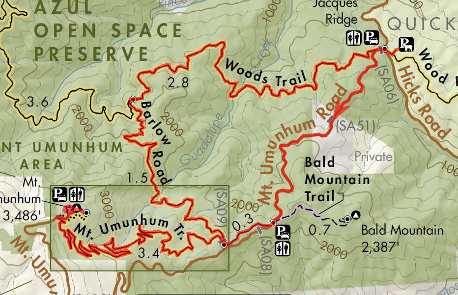 Mount Umunhum - Bay Area Mountain Bike Rides