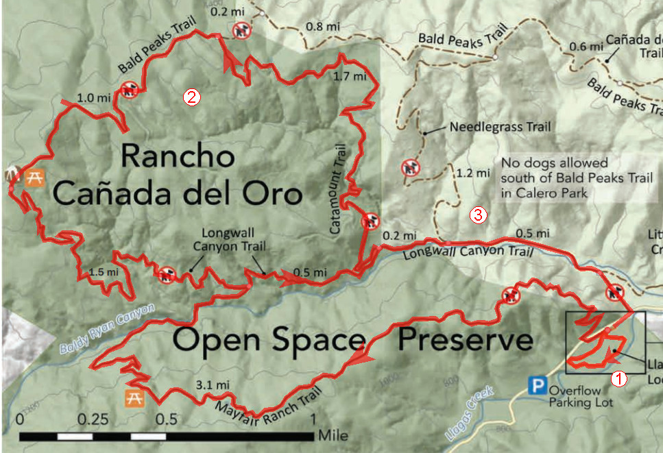 Rancho Canada Del Oro Trail Map Rancho Cañada del Oro   Bay Area Mountain Bike Rides