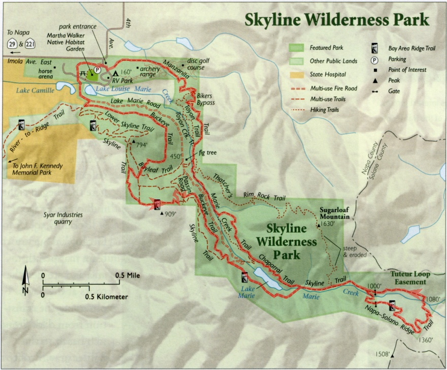 Skyline Wilderness Suggestion 2 Bay Area Mountain Bike Rides