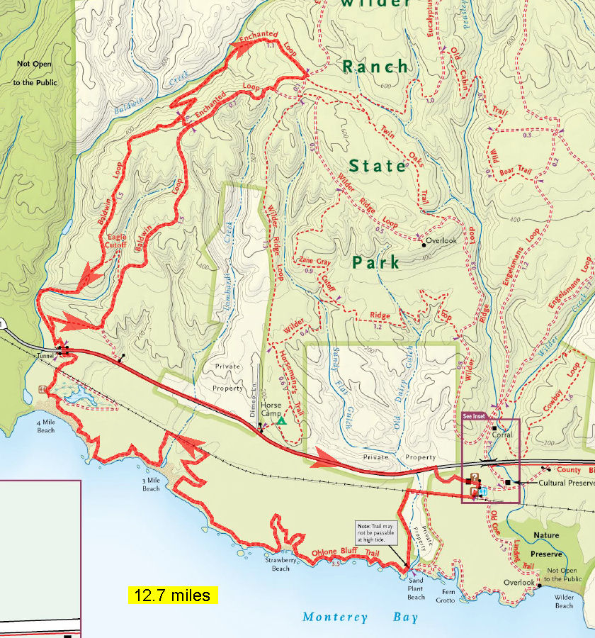 tamarancho map with Wilder Ranch State Park on 23058438 additionally 23056222 moreover Photo besides Pine Mountain Loop Ride besides Wilderranch1.